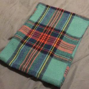 Plaid infinity scarf
